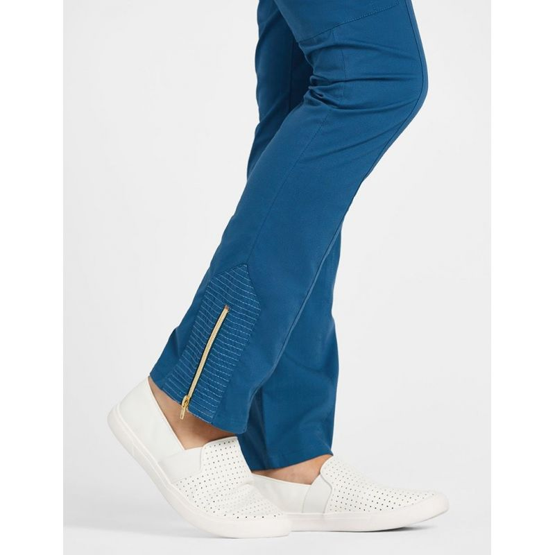 Pantalon-Jaanuu-034-Moto-Pant-034-Bleu-Caraibe