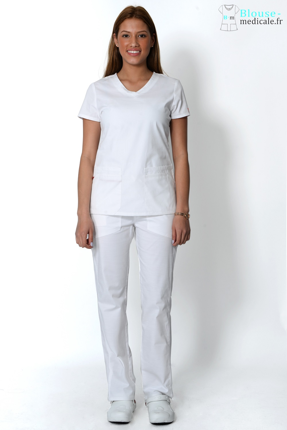 tenue medicale dickies femme blanche blouse medicale blanche femme