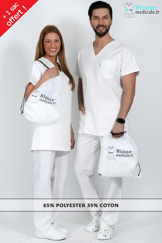 tenue medicale blanche tenue hopital tenue infirmiere tenue infirmier tenue stage