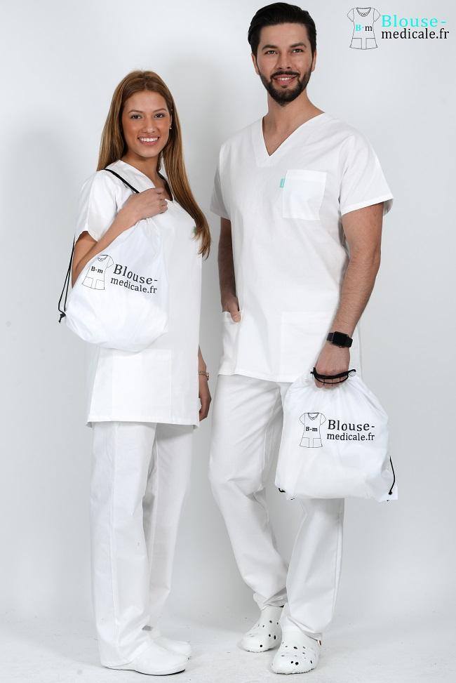 tenue médicale unisexe tenue equipe medicale blanche tenue hopital