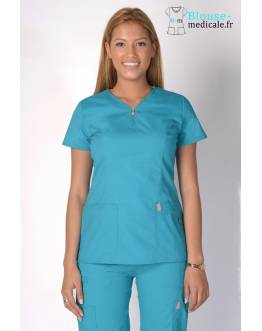 Tunique Medicale Femme Code Happy Bleu Lagon 46600AB