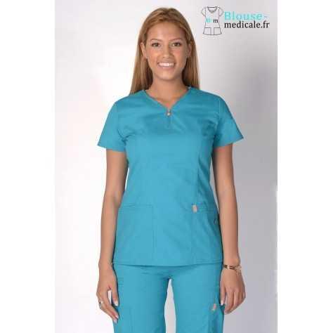 Tunique Medicale Femme Code Happy Bleu Lagon 46600AB