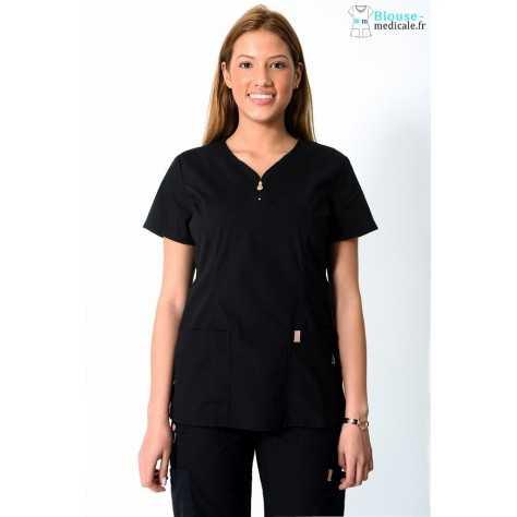 Tunique Medicale Femme Code Happy Noir 46600AB