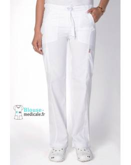 Pantalon Medical Femme Anti taches Blanc