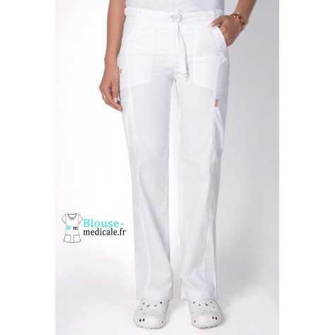 Pantalon Medical Femme Anti taches Blanc