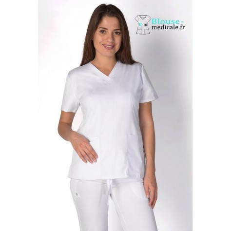 Tunique Medicale Cherokee Luxe Femme Blanc 1845