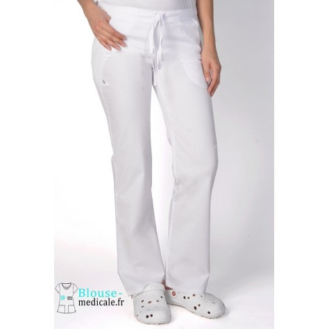 Pantalon Medical Femme Cherokee Luxe Blanc 1066