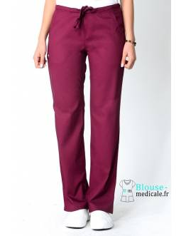 Pantalon Medical Femme Cherokee Luxe Bordeaux 1066