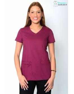 Tunique Medicale Dickies Femme Bordeaux 85906