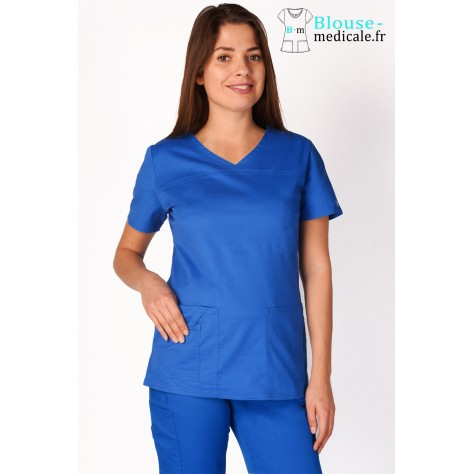 Tunique Medicale Cherokee Femme Bleu Royal 4727