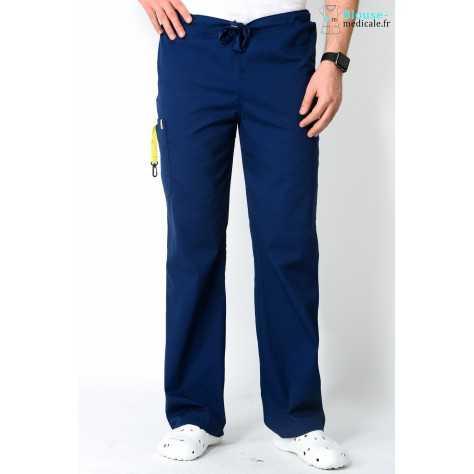 Pantalon Médical Homme Anti Tâches Code Happy Bleu Marine 16001AB