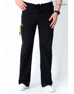Pantalon Médical Homme Anti Taches Code Happy Noir 16001AB