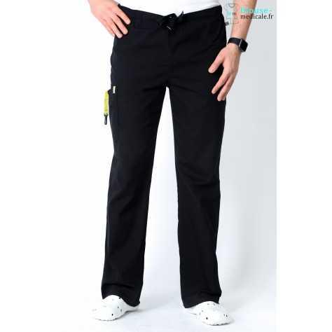 Pantalon Médical Homme Anti Tâches Code Happy Noir 16001AB