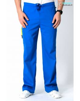 Pantalon Médical Homme Anti Taches Code Happy Bleu Royal16001AB