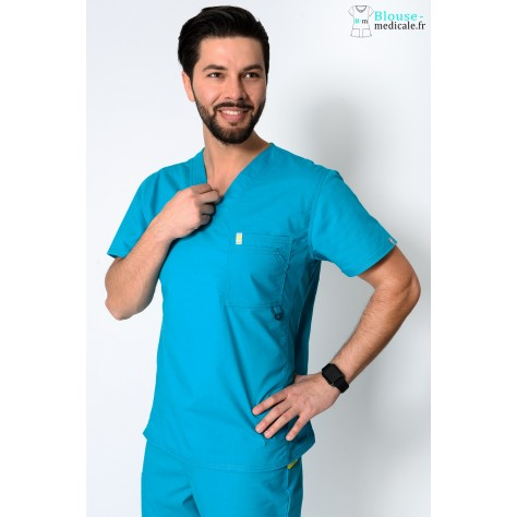 Tunique Medicale Homme Code Happy Bleu Lagon 16600AB