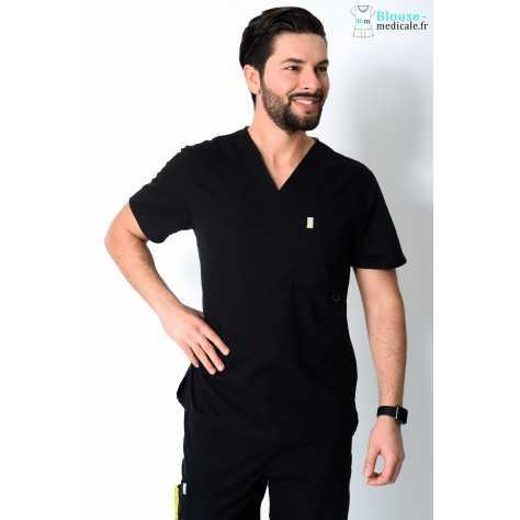 Tunique Medicale Homme Code Happy Noir 16600AB