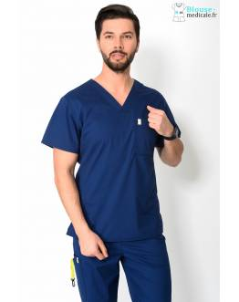 Tunique Medicale Homme Code Happy Bleu Marine 16600AB