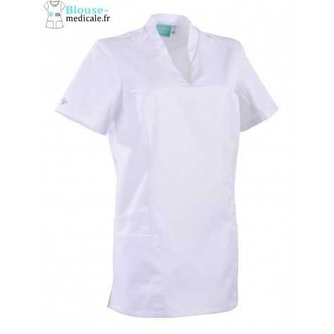 Tunique Medicale Lafont Clemix 2.0 Femme LAURA Blanc