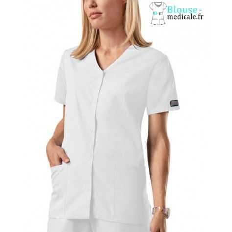 Blouse Médicale Pression Femme Cherokee 4770 blanc