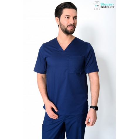 Tunique Medicale Homme Cherokee Luxe Bleu Marine 1929