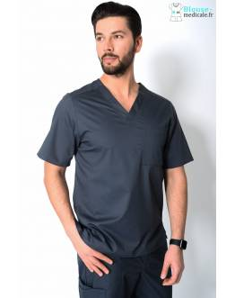 Tunique Medicale Homme Cherokee Luxe Gris Anthracite 1929