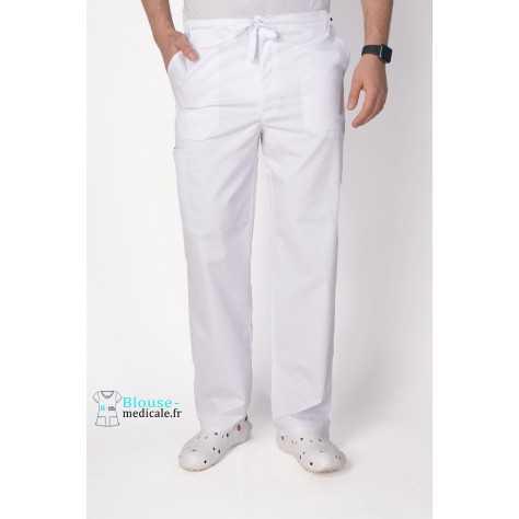 Pantalon Medical Homme Cherokee Luxe Blanc 1022