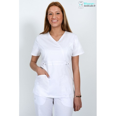 Tunique Medicale Femme Cherokee Luxe Blanc 21701