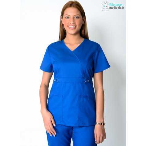 Tunique Medicale Femme Cherokee Luxe Bleu Royal 21701