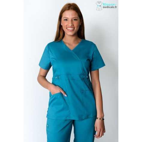 Tunique Medicale Femme Cherokee Luxe Bleu Lagon 21701
