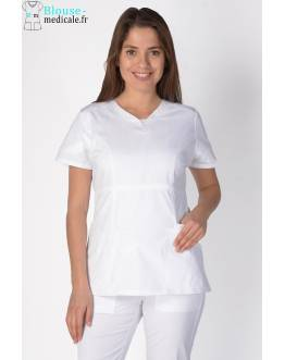 Tunique Medicale Cherokee Femme Blanc 24703
