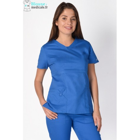 Tunique Medicale Cherokee Femme Bleu Royal 24703