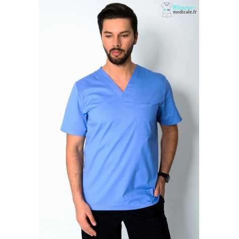 Tunique Medicale Cherokee Homme Bleu Ciel 4743