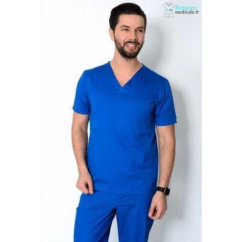 Tunique Medicale Cherokee Antimicrobienne Unisexe Bleu Royal 34777A