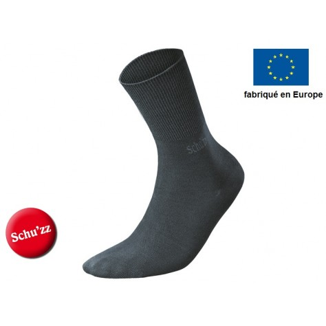 Chaussettes longues gris anthracite