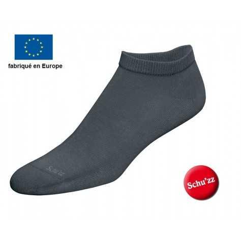 Chaussettes courtes gris anthracite