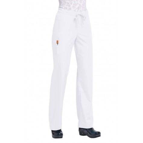 Pantalon Unisexe Blanc Orange G3702