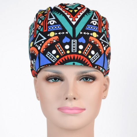 Calot Chirurgien Noir divers motifs colorés