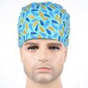 Calot Chirurgien Turquoise avec plumes colorées