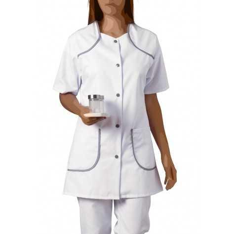 Blouse Medicale Femme Bertille Blanc Gris