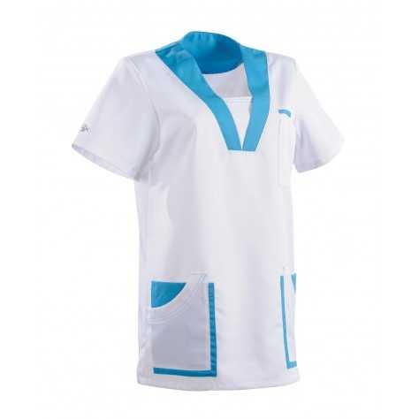 Tunique Lafont Clemix 2.0 Femme MARIE Blanc Turquoise