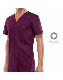 Blouse Dickies Medical Antimicrobienne Homme Bordeaux 81714A