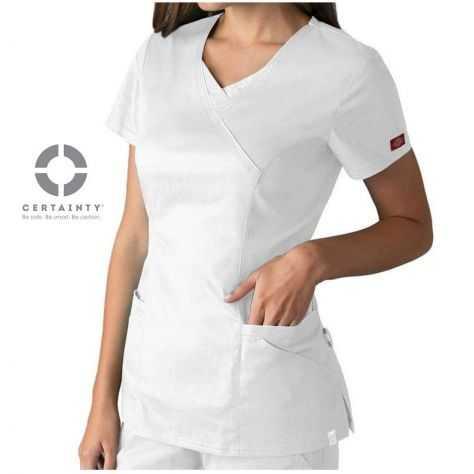 Tunique Médicale Dickies Antimicrobienne Femme Blanc 85954A