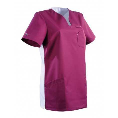 Tunique Medicale Lafont Clemix 2.0 Femme MAITHE Prune Blanc