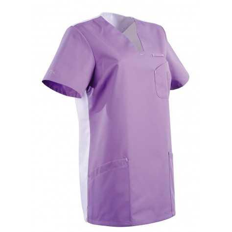 Tunique Medicale Lafont Clemix 2.0 Femme MAITHE Lavande Blanc