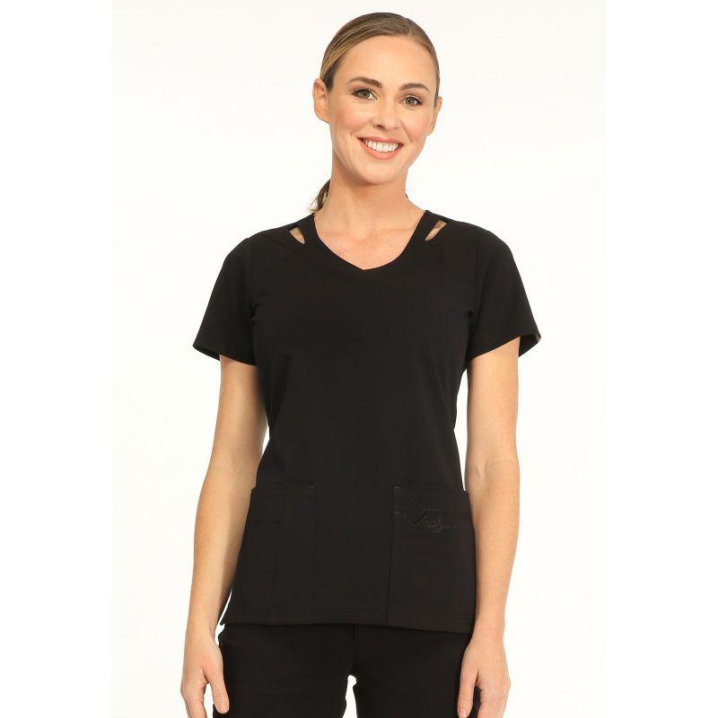 tunique sapphire m dical femme paris blouse medicale couleur noir. Black Bedroom Furniture Sets. Home Design Ideas