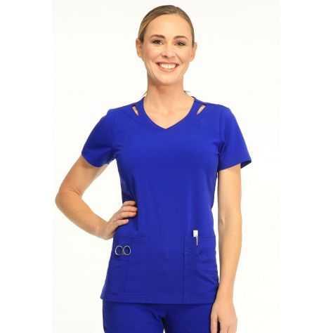 Tunique Medicale Femme Sapphire Paris SA601A Bleu Sapphire