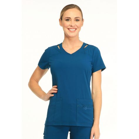 Tunique Medicale Femme Sapphire Paris SA601A Bleu Caraibe