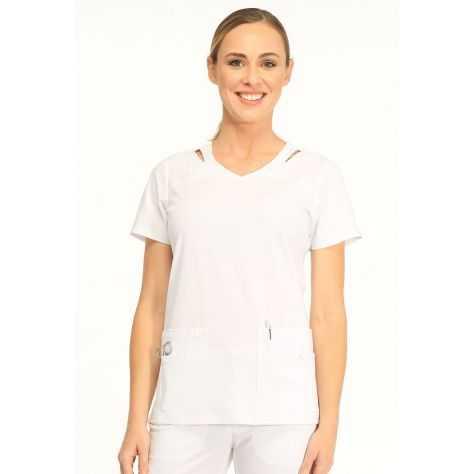 Tunique Medicale Femme Sapphire Paris SA6010A Blanc