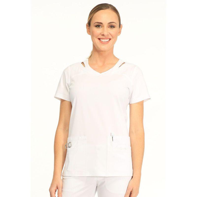 tunique sapphire m dical femme paris blouse medicale couleur blanc. Black Bedroom Furniture Sets. Home Design Ideas