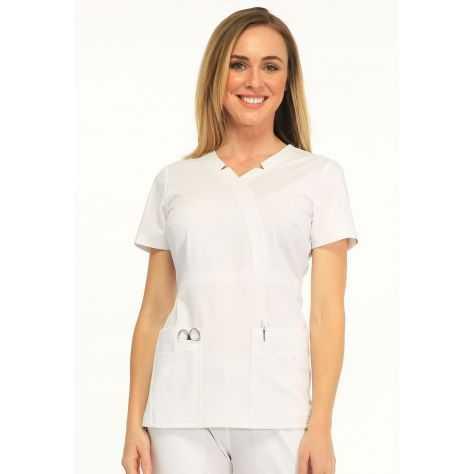 Tunique Medicale Femme Sapphire Madison SA600A Blanc